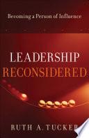 Leadership Reconsidered Book