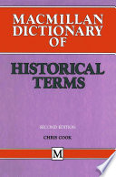Macmillan Dictionary of Historical Terms
