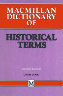 Macmillan Dictionary of Historical Terms