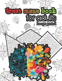 Great Mazes Book for Adults   Large Print