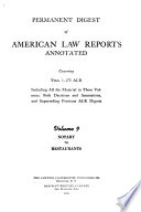 Permanent Digest of American Law Reports Annotated, Covering Vols. 1-175 ALR: Notary to restaurants