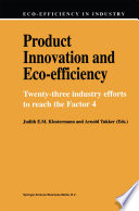 Product Innovation and Eco Efficiency Book