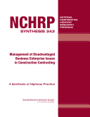 Management of Disadvantaged Business Enterprise Issues in Construction Contracting