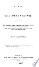 Notes on the Pentateuch