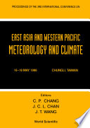 East Asia And Western Pacific Meteorology And Climate   Proceedings Of The 3rd Conference