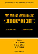 East Asia And Western Pacific Meteorology And Climate - Proceedings Of The 3rd Conference