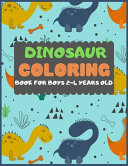 Dinosaur Colouring Book For Boys 2 4 Years Old