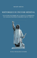 Pdf Rhétorique du pouvoir médiéval