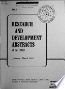 Research and Development Abstracts of the USAEC