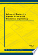 Advanced Research in Material Science and Mechanical Engineering Book