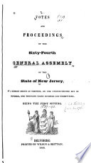 Votes and Proceedings of the ... General Assembly of the State of New Jersey