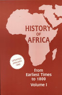 History of Africa  From earliest times to 1800