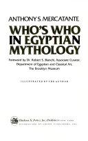 Who s who in Egyptian Mythology