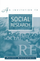 An Invitation to Social Research