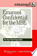 Emanuel Confidential for the MBE  : For Your Final Preparation