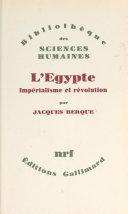 L'Égypte : impérialisme et révolution [Pdf/ePub] eBook