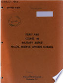 Study Aids, Course 182, Military Justice, Naval Reserve Officers School