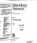 Entomology Abstracts Book