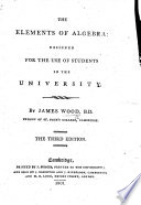 The Elements of Algebra ... The second edition