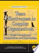 Team Effectiveness In Complex Organizations