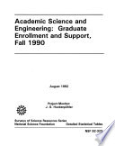 Academic Science engineering  Graduate Enrollment and Support