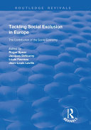 Pdf Tackling Social Exclusion in Europe Telecharger