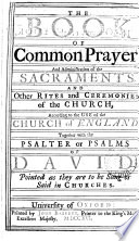 The Book of Common Prayer  and Administration of the Sacraments  Book