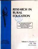 Research In Rural Education