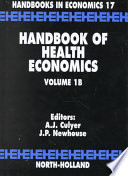 Handbook Of Health Economics Book PDF