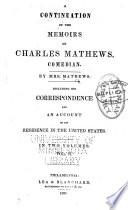 Memoirs of Charles Mathews  Comedian Book PDF