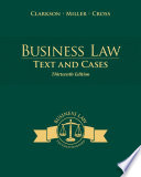 Business Law: Texts and Cases