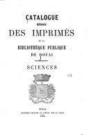 Catalogue de la bibliothèque de la Société nationale des sciences naturelles de Cherbourg