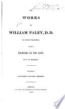 The Works of William Paley, D.D.: Natural theology