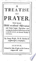 A Treatise Of Prayer