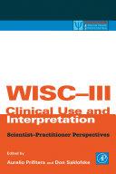 WISC-III Clinical Use and Interpretation