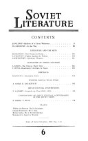 Pdf Soviet Literature