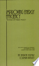 Improving Energy Efficiency the Role of Public Policy