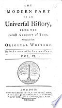 An Universal History  from the Earliest Account of Time