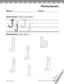 Pre Kindergarten Foundational Phonics Skills  Primary Sound j Book