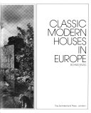 Classic modern houses in Europe