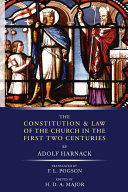 The Constitution and Law of the Church in the First Two Centuries Pdf/ePub eBook