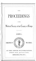 The Proceedings of the Medical Society of the County of Kings