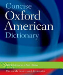 Concise Oxford American Dictionary