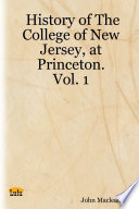 History Of The College Of New Jersey At Princeton