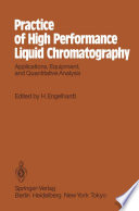 Practice of High Performance Liquid Chromatography Book
