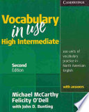 Vocabulary In Use High Intermediate Student S Book With Answers