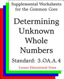 CCSS 3 OA A 4 Determing Unknown Whole Numbers