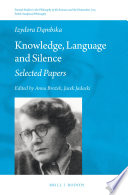Knowledge  Language and Silence Book