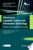 Advances in Computer Science and Information Technology. Computer Science and Information Technology
