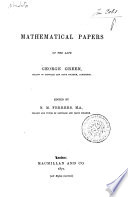 Mathematical Papers of the Late George Green ...